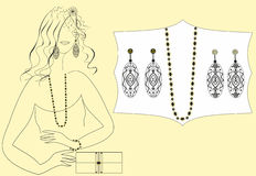 Köpandesmycken för flickor Royaltyfria Foton