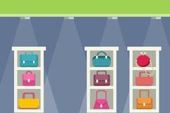 Köpcentrum med påsedesign vektor illustrationer