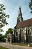 Köpenhamn Danmark - anglikansk kyrka för St. Albans Royaltyfri Bild