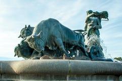 Köpenhamn Danmark - Gefion Fountain Arkivfoton