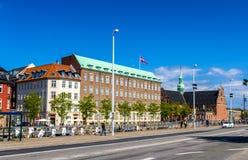 KÖPENHAMN DANMARK - MAJ 29: Sikt av invallningen av springan Royaltyfri Bild
