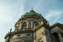 Köpenhamn Danmark - marmorkyrka/den Frederiks kyrkan Royaltyfri Foto