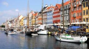 Köpenhamn Danmark, Nyhavn Fotografering för Bildbyråer