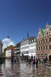 Köpenhamn efter regn royaltyfri fotografi