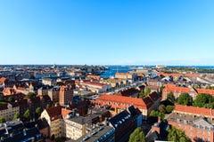 Köpenhamn från över Royaltyfria Foton