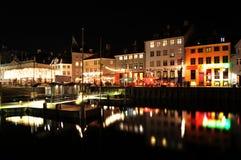 Köpenhamn vid natt Royaltyfria Foton