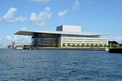 KöpenhamnDanmark operahus Arkivbilder
