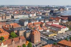 Köpenhamnhorisont under dagen arkivfoton