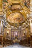 Kör av basilikan Il Gesu, Rome Arkivfoton