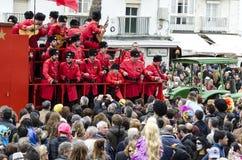 Kör av karnevalallsånger till åhörarna Royaltyfria Foton