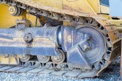 Kör en bulldozer Arkivbild