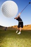 kör golf arkivfoto