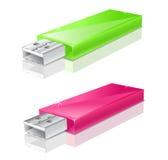 kör grön pinkusb för exponeringen Fotografering för Bildbyråer