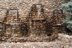 kör lilla asfulla tre väggvattenfall Royaltyfri Bild