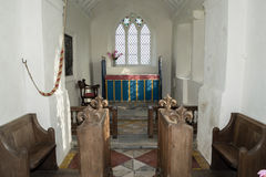 Kör och altare av kyrkan av den välsignade jungfruliga Maryen i Somerset arkivfoto
