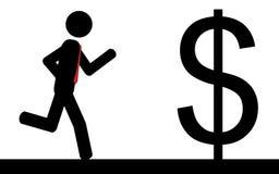 Kör till dollaren Arkivbild