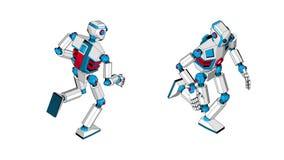 Köra en fantastisk humanoid robot vektor illustrationer