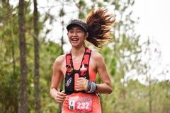 Köra för folk för dam Marathon Fit Royaltyfri Foto