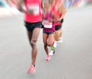 Köra för maratonidrottsman nen Arkivbild