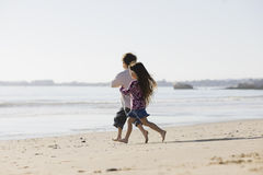 köra för strandungar Royaltyfri Fotografi