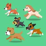 Köra för tecknad filmhundkapplöpning Royaltyfri Fotografi