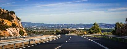 Köra till Barcelona, Spanien royaltyfri fotografi