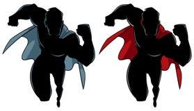Körande kontur för Superhero vektor illustrationer