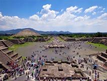 Körbana av dödaen, Teotihuacà ¡ n Arkivfoton