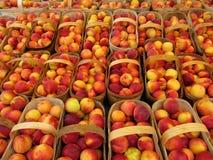 Körbe der Pfirsiche Stockbild