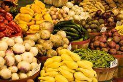 Körbe des Gemüses Stockfoto