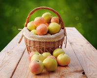 Körbe von Äpfeln Stockfotografie