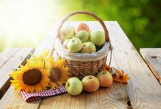 Körbe von Äpfeln Lizenzfreie Stockfotos