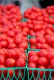 Körbe von Cherry Tomatoes Stockfotografie