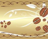 Körner des Kaffees auf dem abstrakten Hintergrund.  lizenzfreie stockbilder