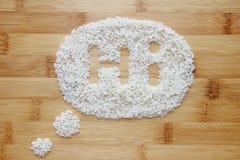 Reis auf Bambushintergrund Stockfotografie