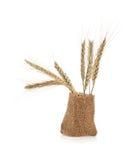Körner des Weizens in einem Sack Lizenzfreie Stockfotografie