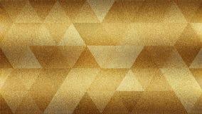 Körniger Hintergrund mit abstraktem Gelb- und Golddreieck formt Lizenzfreie Stockfotos