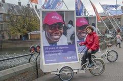 Körning av affischtavlan från KNCV-fundamentet på Den Haag The Netherlands 2018 royaltyfri bild