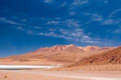 Körning av Altiplanoen av Bolivia arkivfoton