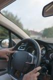 Körning av bilen royaltyfria foton
