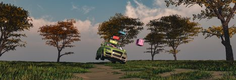 körning av bilen och av vägen vektor illustrationer