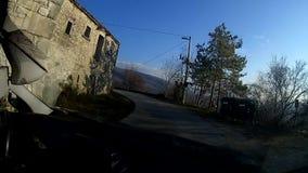 Körning av den lilla byn för ho lager videofilmer