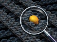 Körning av ett citronbilbegrepp stock illustrationer