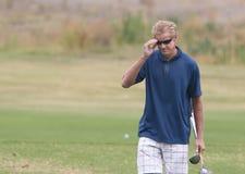 körning av golfaren som låter vara område Royaltyfri Foto