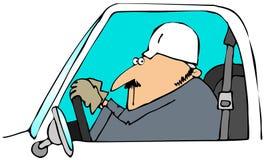 körning av lastbilarbetaren stock illustrationer