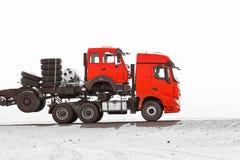 Körning av lastbilen Royaltyfri Bild