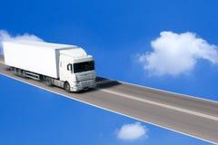 körning av lastbilen royaltyfria foton