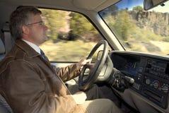 körning av mannen Arkivfoto