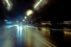 körning av natt Royaltyfria Bilder