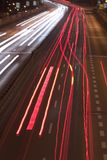 körning av natt Arkivfoton